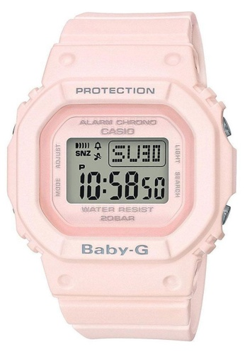 CASIO pink Casio Baby-G Salmon Pink Resin Watch C8A3BAC1AFE6D6GS_1