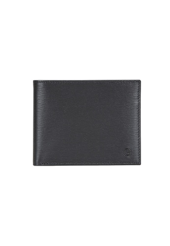 Goldlion black and blue Goldlion Men Leather Wallet (6 Cards Slot, Window Compartment, RFID Protection) - Black 4F322AC272904AGS_1