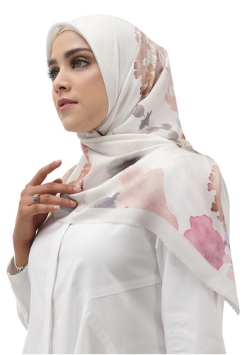 Buttonscarves 白色 Buttonscarves Asoka Satin Square Pearl 33C38AA947C088GS_1