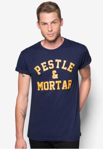Pestle & Mortar navy Athletic Tee PE354AA51EMYMY_1