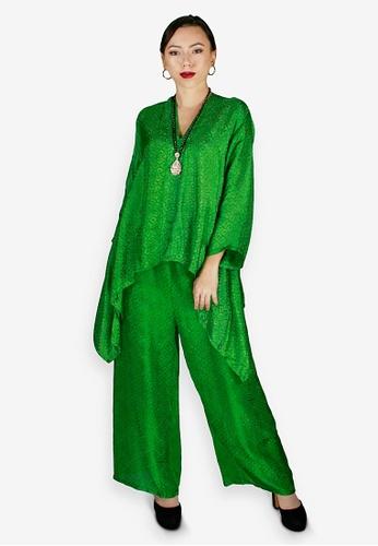 PANGOI green PANGOI Exclusive Babyfly Viscose Batik Plain Muslimah Wear 14286AAD8C0C98GS_1
