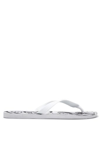 Dupe white Tribal Flip Flops DU626SH05VVUPH_1