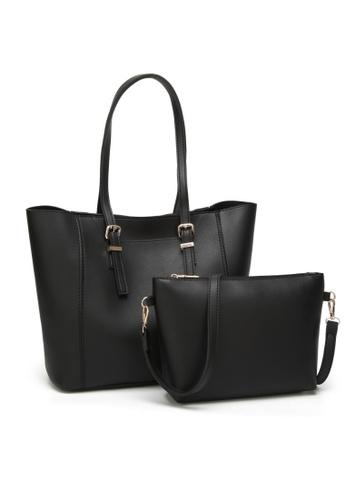 Lara black Women Tote Bag With Crossbody Bag 64406ACDF9BA85GS_1