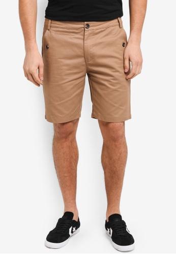 Flesh Imp 米褐色 Butler Plain Shorts EE166AA4573590GS_1