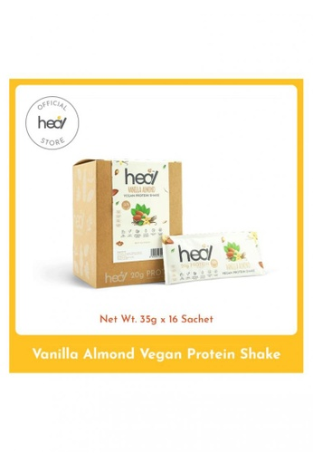 Heal Nutrition Heal Vanilla Almond Vegan Pea Protein Shake Plant Based Powder 16 Sachets Box HALAL- Suitable for Muscle Gain , Diet F8483SE6BC89FEGS_1