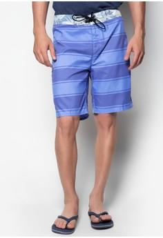 Beach Shorts Stripes + Printed Waist
