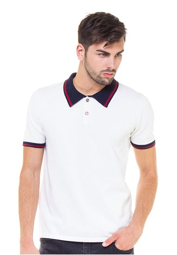 Knitwork Off White Basic Polo Shirt