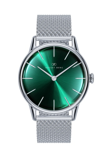 August Berg green SERENITY GREENHILL Silver Classic Silver Mesh 32mm 5A80CAC9375456GS_1