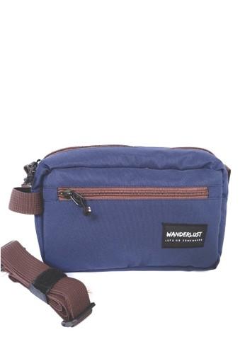 Wanderlust blue Wanderlust - Pouch Bag Handbag Travel Clutch - Geneva Navy Brown 20D51ACFF58AC7GS_1