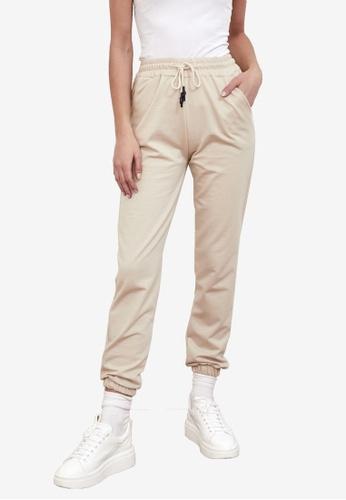 Trendyol beige Jogger Pants C6D52AA8278859GS_1