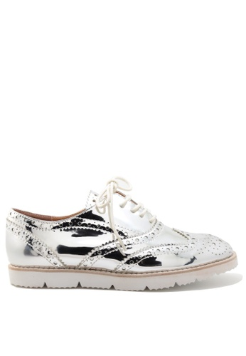 PRODUIT PARFAIT silver Oxford Shoes 674FDSH07D9BCAGS_1
