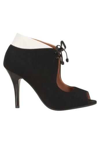 Beira Rio black and white High Ankled Peep Toe Sandal VI997SH51ETOHK_1