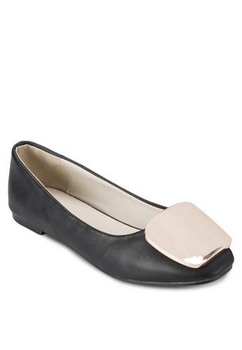 金屬扣環圓頭平底esprit旗艦店鞋, 女鞋, 鞋