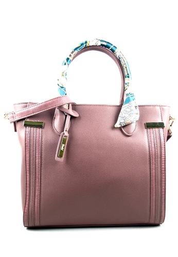 Kimbel International pink Handbag with Sling 2F6ACAC7F4FE9BGS_1