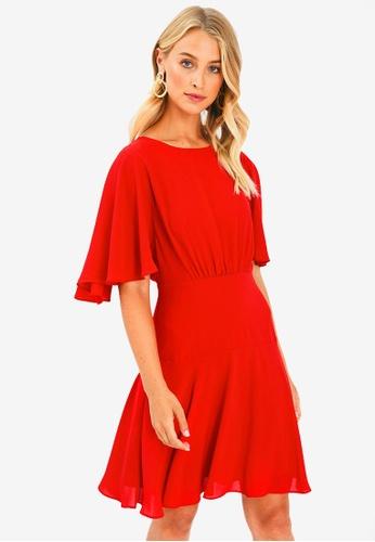 FORCAST red Vera Cape Dress 58A80AA2733AC9GS_1