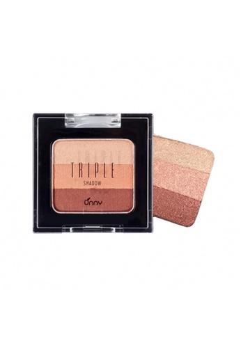 UNNY beige UNNY Triple Eyeshadow - #3 Dry Rose 7FBC1BEA5E34A0GS_1