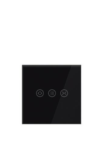 UKGPro 黑色WiFi無線一體化輕觸式智能窗簾開關,室內改裝安裝電燈窗簾抽氣扇場景燈制手機APP UKG Smart Life語音操控安卓iOS零火供電(U-DS151-BK) DE7DBHLEC62F85GS_1
