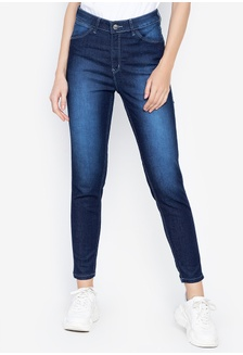 0223e3907d6af ... Shape Keeper Jaclyn Low Rise Slim Jeggings Jeans with Stretch and Faded  Effect
