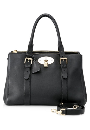 MULBERRY black Pre-Owned Mulberry Bayswater Double Zip Tote 693BCAC19749EDGS_1