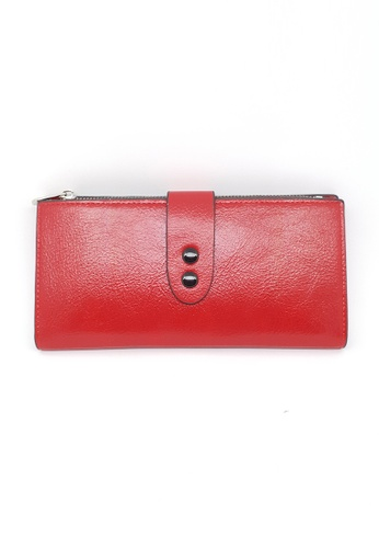 BELLE LIZ red Double Buckle Lovely Ladies Purse Red FD4CAACBD81EDCGS_1