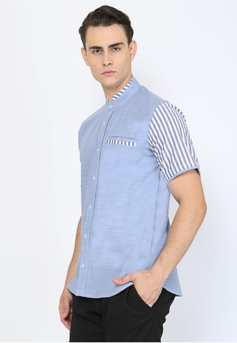 Allev blue Farhan Shirt - Biru B414AAA363830CGS_1