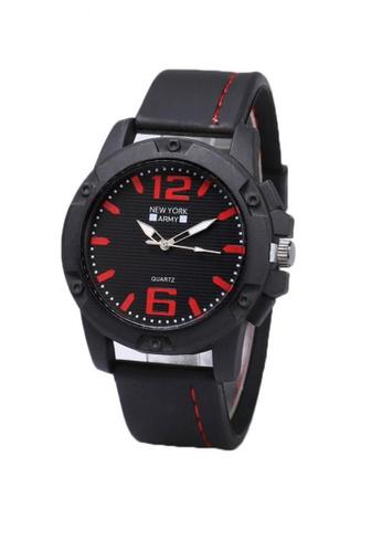 Greatvalueplus red Blanchefleur Men's Analog Rubber Watch NYA 319 AF02FAC835274EGS_1