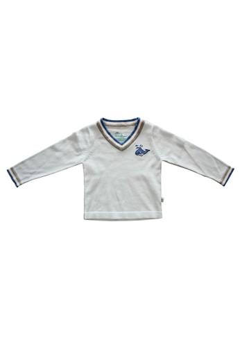 Little Bubba blue Little Bubba Sweater V-Neck Whale 5890DKA01BD522GS_1