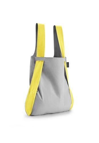 NOTABAG yellow Notabag Original Convertible Tote Backpack - Yellow/Grey 82B46AC2B5747CGS_1