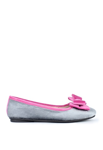 M&G grey and silver Cherry Doll Shoes by M&G MG741SH0IZ8SPH_1