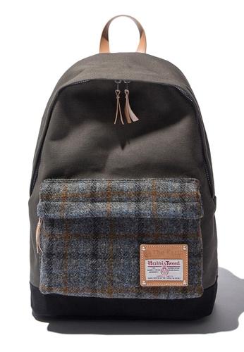 The Earth grey Harris Tweed Daypack - Grey2 TH224AC39CAYSG_1