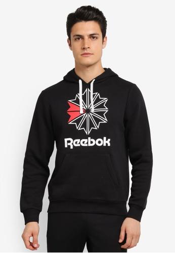 Reebok 黑色 Reebok Classics Star Hoodie RE691AA0SHTJMY_1