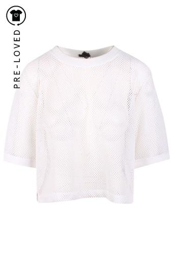 DKNY white Pre-Loved dkny White Mesh Top A78CEAA1444CB6GS_1