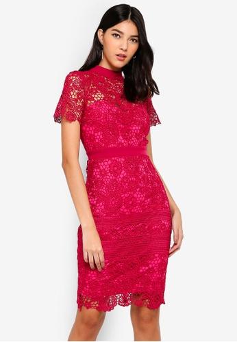 Paper Dolls pink Pink High Neck Dress 861B6AAFBAF8F9GS_1