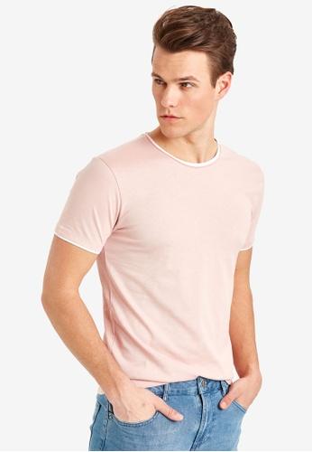 LC Waikiki pink Crew Neck Short Sleeve Basic T-Shirt 704BBAAF17F5DEGS_1