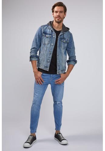DeFacto blue Man Denim Wall Trousers 95E2EAA6A147C9GS_1