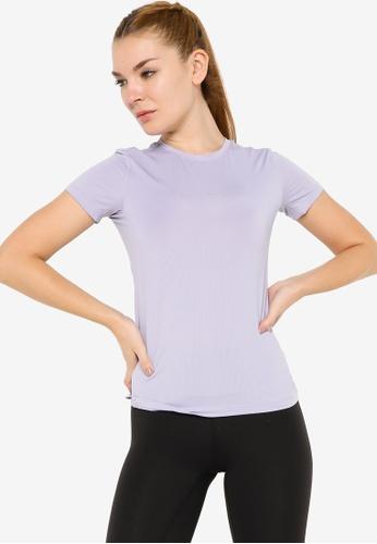 Anta 紫色 C100 Short Sleeves Tee CAD53AA8128502GS_1