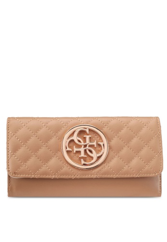 Guess brown and beige G Lux Multi Clutch Wallet 3C20CACD653599GS_1