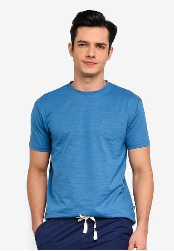 Penshoppe 藍色 休閒口袋T恤 36B97AADAD235CGS_1