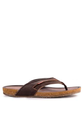 CARVIL brown Carvil Sandal Casual Men Orfeo-01 M Dark Brown FAC22SHEAF7DF7GS_1