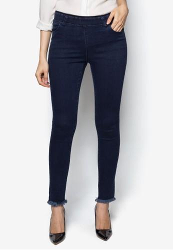 中腰窄管彈zalora 男鞋 評價性長褲, 服飾, 直腳褲