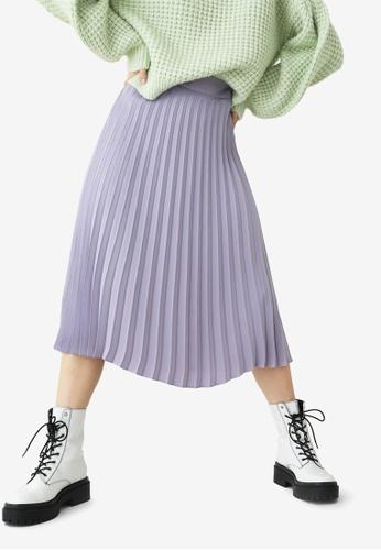 PIMKIE purple Pleated Midi Skirt 0A6F9AA8598AB5GS_1