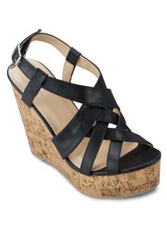 Melissa 交叉帶木製楔形鞋