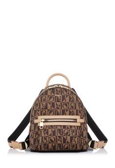 f8464f967b9a BONIA beige Beige Aria Monogram Backpack S 1E2E3AC2C9FAD7GS 1