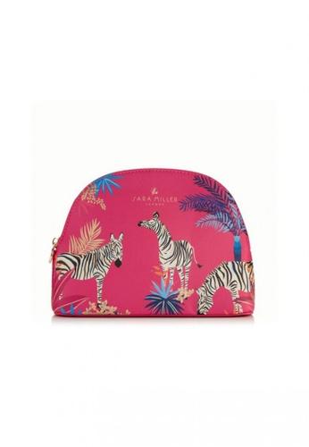Sara Miller pink Sara Miller London - Medium Cosmetic Bag - Pink Zebra (FG8422) C2CC8ACD292D14GS_1