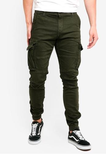 Indicode Jeans 綠色 緊身縮口褲 0660AAAF9FB814GS_1