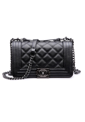 Trendyshop black Elegant Two Way Shoulder Bag 5BA10ACFE9DF8CGS_1