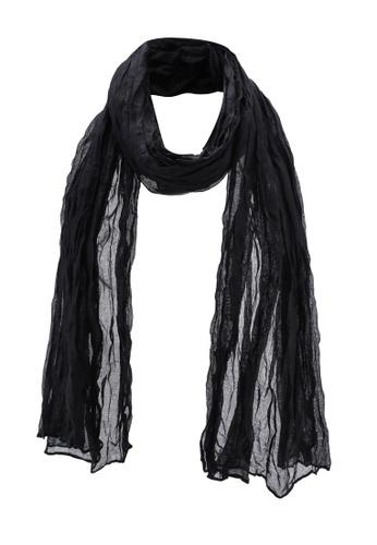 OVS 黑色 質感圍巾 5C724AC80B51D8GS_1