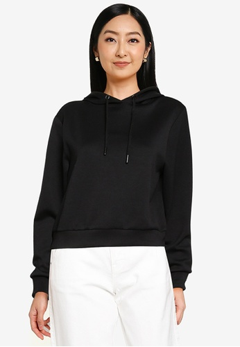 ONLY black Joy Long Sleeve Hoodie 83A80AACB835E0GS_1