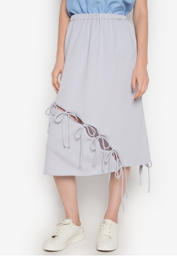 NEW ESSENTIALS grey Ivar Aseron Draw String Skirt NE239AA0JD2SPH_1