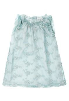 Infant Aline Dress with Ruflled Sleeve